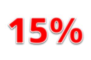 Скидка 15% на любимые коллекции