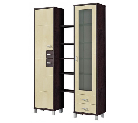 Двухсекционный шкаф Домино Венге ВК-04-11
