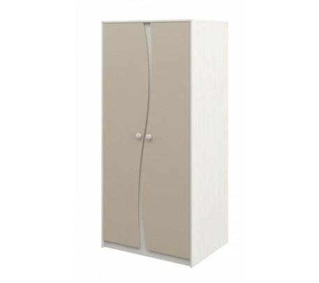 Двухдверный шкаф для одежды Комби МН-211-16 капучино