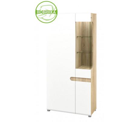 Комбинированный шкаф витрина Леонардо МН-026-19/1 (белый)