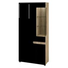 Комбинированный шкаф витрина Леонардо МН-026-19/1 (черный)