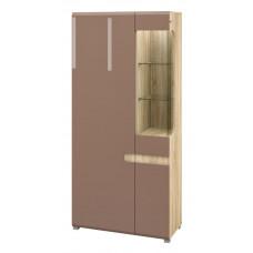 Комбинированный шкаф витрина Леонардо МН-026-19/1 (светло-коричневый)