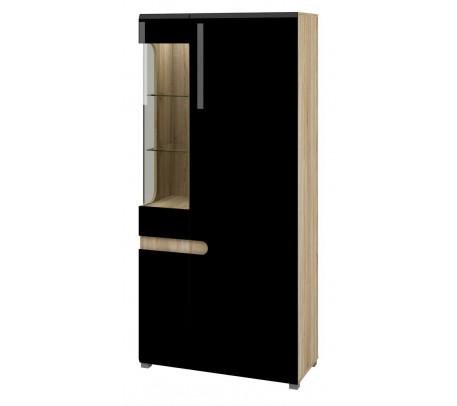 Комбинированный шкаф витрина Леонардо МН-026-19 (черный)