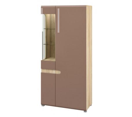 Комбинированный шкаф витрина Леонардо МН-026-19 (светло-коричневый)