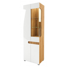 Шкаф витрина Леонардо МН-026-01/1 (белый)