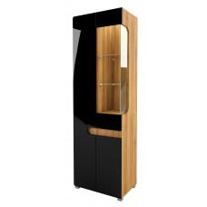 Шкаф витрина Леонардо МН-026-01/1 (черный)