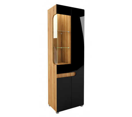 Шкаф витрина Леонардо МН-026-01 (черный)