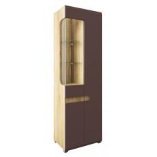 Шкаф витрина Леонардо МН-026-01 (светло-коричневый)