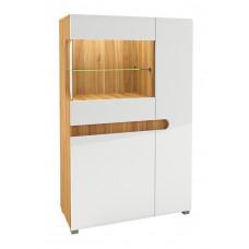 Шкаф витрина Леонардо МН-026-03 (белый)