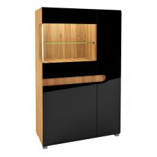Шкаф витрина Леонардо МН-026-03 (черный)