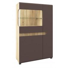 Шкаф витрина Леонардо МН-026-03 (светло-коричневый)