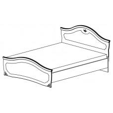 Двуспальная кровать Орхидея СП-002-12 (черешня)