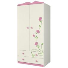 Двухдверный шкаф для одежды Розалия Ш90-2Д1