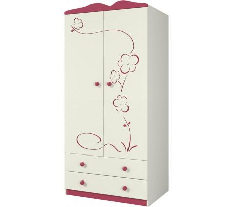 Двухдверный шкаф для одежды Розалия Ш90-2Д0
