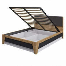 Двуспальная кровать Сканди МН-036-20 Графит