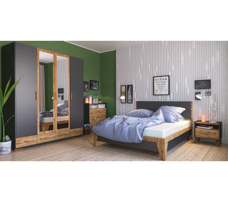 Спальня Сканди Графит 1