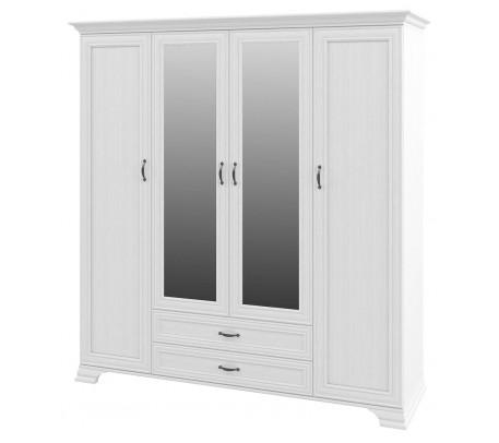 Четырехстворчатый шкаф для одежды Юнона МН-132-04 с зеркалом