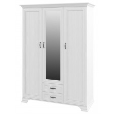 Трехстворчатый шкаф для одежды Юнона МН-132-03 с зеркалом